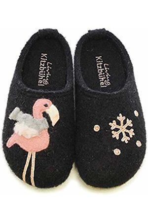 Living Kitzbühel Girls' Pantoffel Winterflamingo & Schneeflocke Open Back Slippers