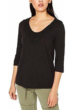 Esprit Women's 089ee1k006 Long Sleeve Top, ( 001)