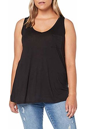 Simply Be Women's Ladies V-Neck Jersey Vest Top, ( 001)
