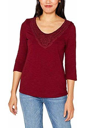 Esprit Women's 089ee1k006 Long Sleeve Top, (Garnet 620)