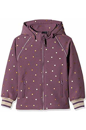 Name it Girl's Nkfalfa Jacket Foil Dot W Rib 1fo Plum