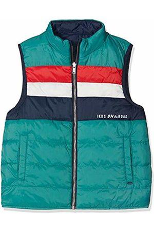 IKKS Boy's Doudoune Sm Reversible Navy/vert Raincoat, Moyen 48