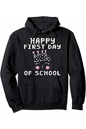 Merchrox Happy First Day Of Back To School Cute Cat Kids Teacher Gift Pullover Hoodie