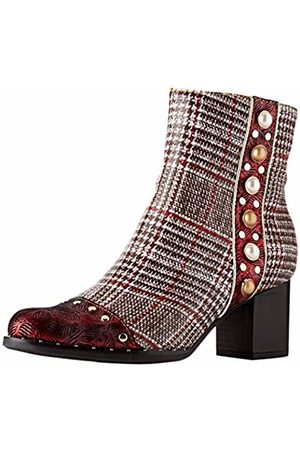 LAURA VITA Women's Emcilieo 03 Ankle Boots, Rouge