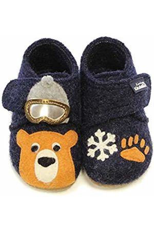 Living Kitzbühel Baby Boys' Babyklettschuh Eisbär& Schneeflocke Slippers 10 UK