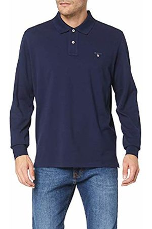 GANT Men's The The Original Pique LS Rugger Polo Shirt, Evening 433