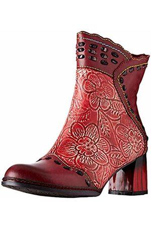 LAURA VITA Women's Gaclao 02 Ankle Boots, Rouge