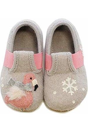 Living Kitzbühel Girls' T-Modell Winterflamingo & Schneeflocke Low-Top Slippers, (Feather 0619)