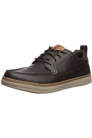 Skechers Men's Heston-SENDO Moccasins, Leather Chocolate
