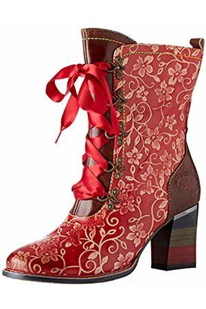 LAURA VITA Women's Geceko 04 Ankle Boots, (Rouge)