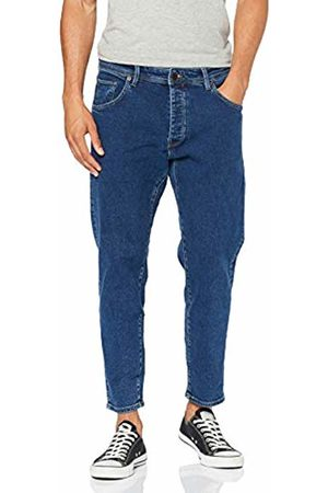 Selected Homme NOS Men's Slhrelaxcrop-aldo 3010 St JNS W Noos Straight Jeans, Medium Denim