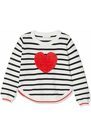 Name it Baby Girls' Nmfluvifa Ls Knit Box Jumper, Dark Sapphire