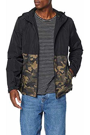Koton Men's Regenjacke Mit Camouflage-ansatz Raincoat