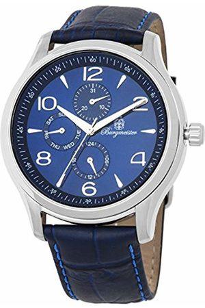 Burgmeister Men's Analog Japanese-Quartz Watch with Leather Calfskin Strap BMT04-133