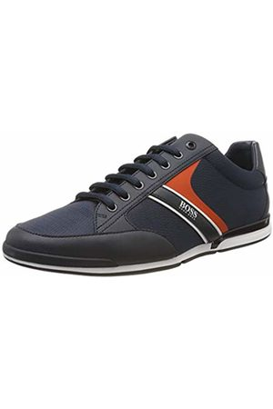 HUGO BOSS Men's Saturn_Lowp_NYRB Low-Top Sneakers, (Dark 408)