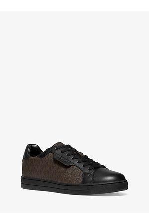 Michael Kors MK Keating Logo and Leather Sneaker - /blk - Michael Kors