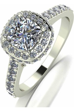 Moissanite 9Ct Lady Lynsey 3.5Ct Eq Cushion Centre Halo Ring