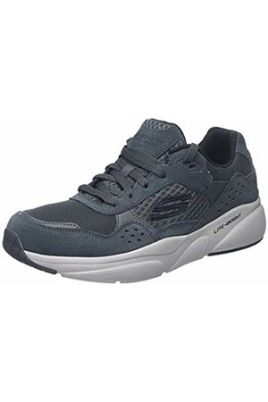 Skechers Men Trainers - Men's Meridian-OSTWALL Trainers, Suede/Mesh/Pu/Trim Charcoal