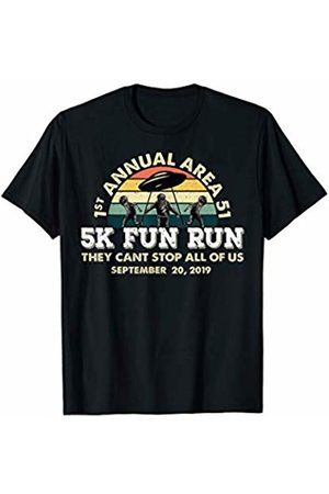 The Alien Shop Storm Area 51 5K Fun Run They Cant Stop Us All Vintage UFO T-Shirt