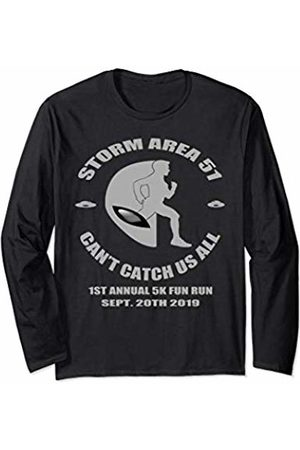 Storm Area 51 Meme Funny Sayings Gift Shopz Funny Area 51 5K Fun Run Break Into Area 51 UFO Aliens Mens Long Sleeve T-Shirt
