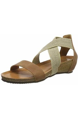 Bearpaw Women's Carla Ankle Strap Sandals, Natural (120)