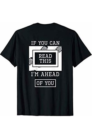 JK Funny Running Designs Men T-shirts - If You Can Read This Ahead Of You Funny Runner Back Print T-Shirt