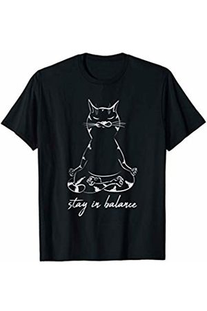 FunnySunny Yoga T-Shirts Funny Cat In Lotus Pose Yoga Meditation Fans Outfit Gift T-Shirt