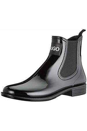 HUGO BOSS Women's Nolita Rain Bootie Chelsea Boots, ( 001)