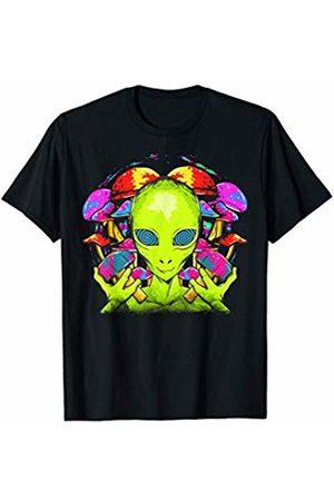 Tee Styley Alien Psychedelic Aliens Mushrooms Funny Humor Gift T-Shirt