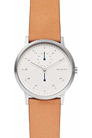 Skagen Mens Analogue Quartz Watch with Leather Strap SKW6498