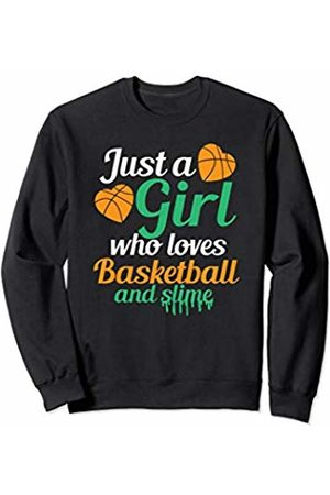 Cultures Basketball Novelty Gifts And Shirts Girl Who Loves Basketball And Slime Sports JT Sweatshirt