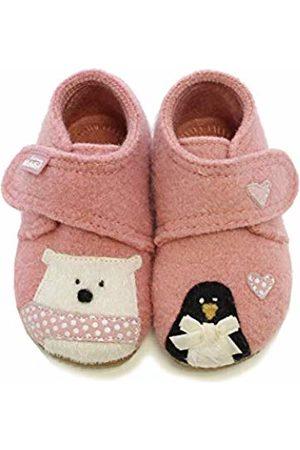Living Kitzbühel Baby Girls' Babyklettschuh Eisbär & Pinguin in Love Slippers