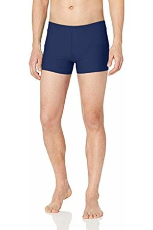 Amazon Men's Square Swim Brief Navy
