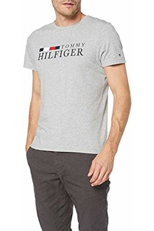 Tommy Hilfiger Men's RWB Tee Sport Top, ((Cloud HTR P9v)