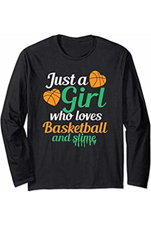 Cultures Basketball Novelty Gifts And Shirts Girl Who Loves Basketball And Slime Sports JT Long Sleeve T-Shirt