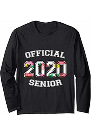 Official Senior 2020 High School Gifts Official Senior 2020 Grad High School Floral Sports Girl Long Sleeve T-Shirt