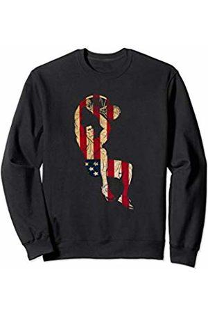 Sports Fan Shirts For Men Women Vintage Basketball Team Player Sport Fan US Flag Men Sweatshirt