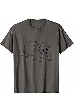 The New Antique Giant Panda Bear Print T-Shirt