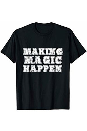 Athletes Can Move Mountains Making Magic Happen- Rough Sporty Vintage Block Letters T-Shirt