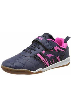 KangaROOS Unisex Kids' Kf Flex Low-Top Sneakers, ((Dk Navy/Daisy 4204)