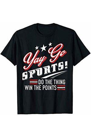 Fun Sports Fan Joke Fan Gift Design Yay Sports Fun Sports Fan Joke Gift For Non Sports Fan T-Shirt