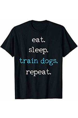 Dog School Dog Training Funny Eat Sleep Train Gift T-Shirt