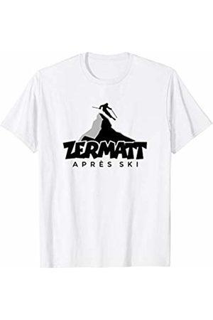 TSS Zermatt T-Shirts & Gifts for Winter Sports Zermatt Apres Ski (Gray) Winter Sports Skier T-Shirt
