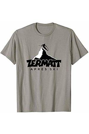 TSS Zermatt T-Shirts & Gifts for Winter Sports Zermatt Apres Ski (Black&White) Winter Sports Skier T-Shirt