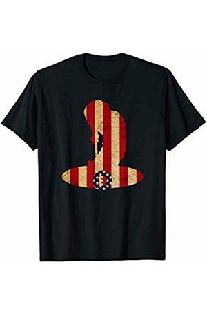 Sports Fan Shirts For Men Women Vintage Billiards Team Player Sport Fan US Flag T-Shirt