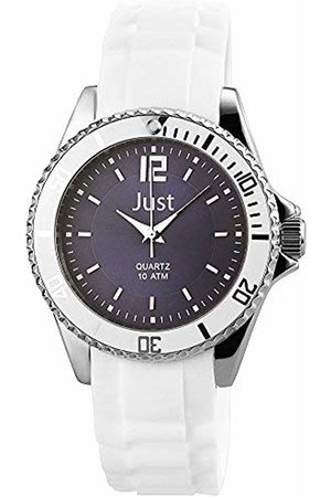 Just Watches Women's Quartz Watch with Black Dial Analogue Display Quartz Rubber ~ 48 S3863 Dbl