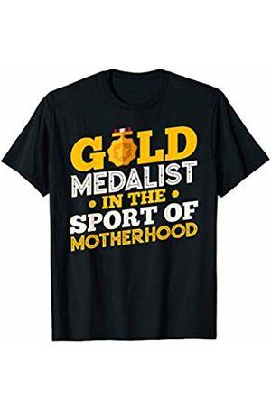 RayDee Parent Appreciation Tees Men T-shirts - Gold Medalist in the Sport of Motherhood T-Shirt