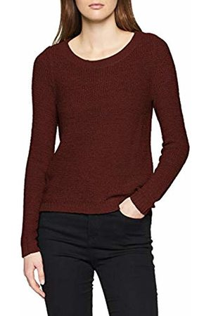 ONLY NOS Women's Onlgeena Xo L/s Pullover KNT Noos Jumper, Tawny Port