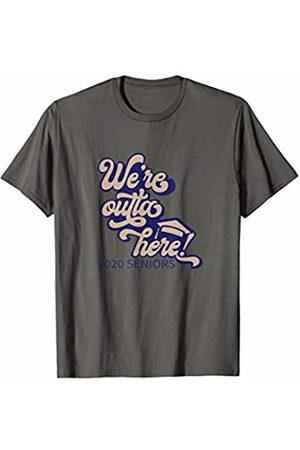 Official Senior 2020 High School Gifts Senior 2020 We're outta here Grad High School Sports T-Shirt
