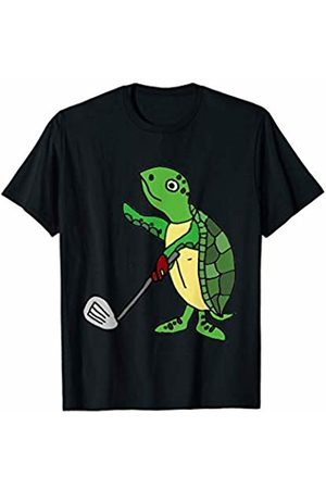 Smileteessportsa Funny Sea Turtle Playing Golf T-Shirt